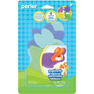 Perler Pegboards 4/Pkg Assorted Shapes & Colors - 80-22672