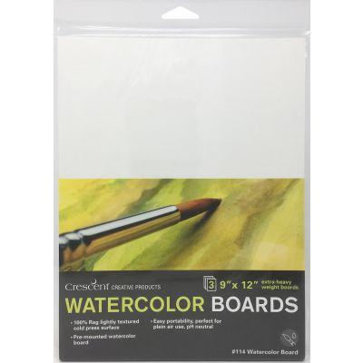 Crescent Watercolor Board 3/Pkg-9