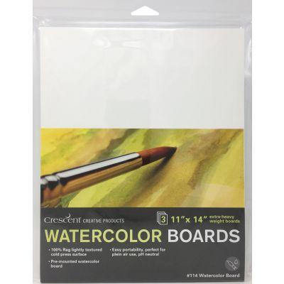 Crescent Watercolor Board 3/Pkg-11