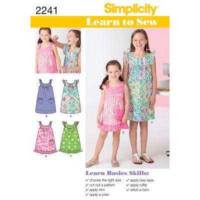 Simplicity Child Girl Dresses 7 8 10 12 14 - U02241K5