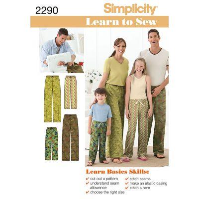 Simplicity Unisex Sleepwear Xs  L / Xs  Xl - U02290A