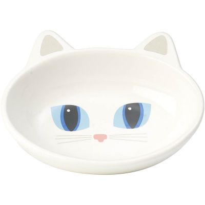 Petrageous Frisky Kitty Oval Saucer 5.3Oz White - 10012