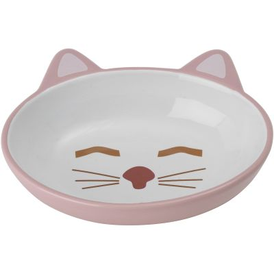 Petrageous Sleepy Kitty Oval Saucer 5.3Oz Pink - 70658