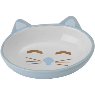 Petrageous Sleepy Kitty Oval Saucer 5.3Oz Blue - 81026