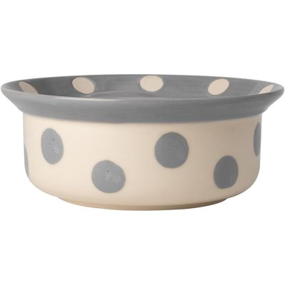 Petrageous Designs Polka Paws Bowl  Holds 4 Cups Gray - 14017