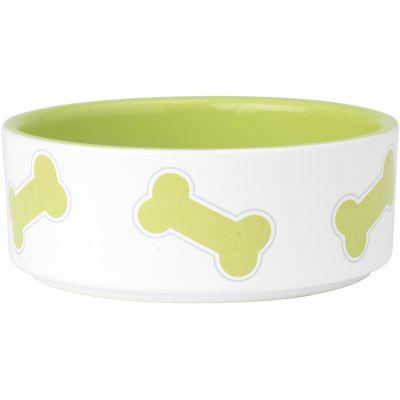Petrageous Designs Kool Bones Bowl  Holds 2 Cups Lime Green - 11014P