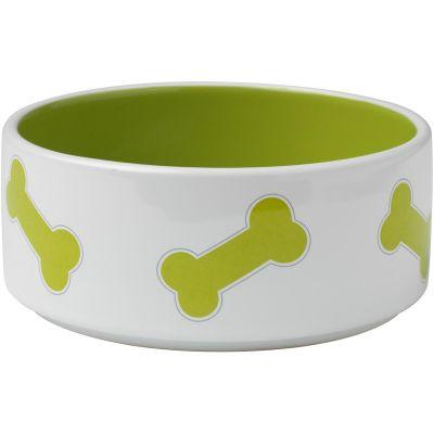 Petrageous Designs Kool Bones Bowl  Holds 3.5 Cups Lime Green - 11012P