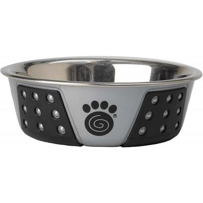 Petrageous Designs Stainless Steel Bowl  Holds 1.75 Cups Gray/Black - 13097