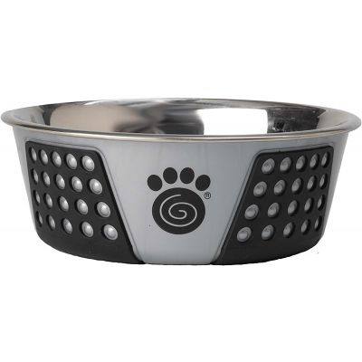 Petrageous Designs Stainless Steel Bowl  Holds 3.75 Cups Gray/Black - 13098
