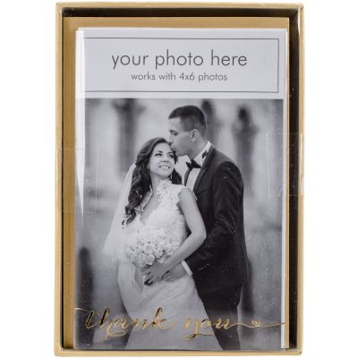 Paper House Boxed Photo Overlay Card Set Thank You Heart - CPO0003X
