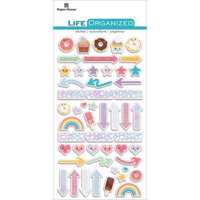 Paper House Life Organized Epoxy Stickers  Kawaii - STCP1005