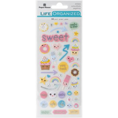 Paper House Life Organized Puffy Stickers Kawaii - STP1005
