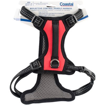 Coastal Reflective Control Handle Harness Red Medium - 06489RDM