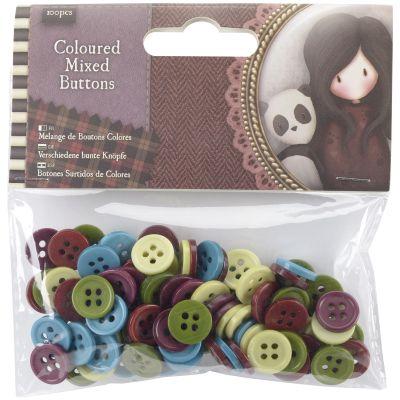 Santoro'S Gorjuss Tweed Mixed Buttons 100/Pkg  - GO354305