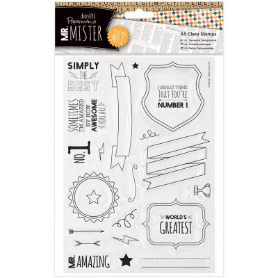 Papermania Mr. Mister A5 Clear Stamps Text - PM907233
