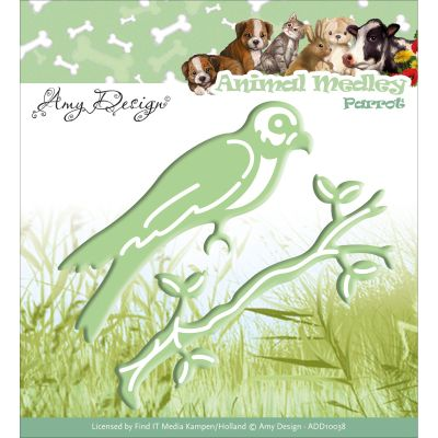 Find It Trading Amy Design Animal Medley Die Parrot - ADD10038