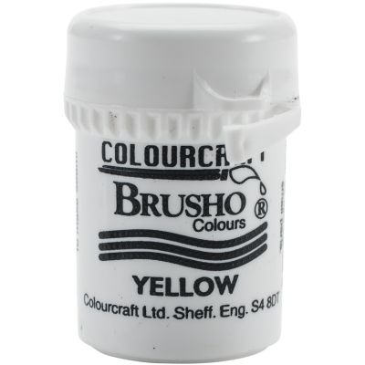 Brusho Crystal Colour 15G Yellow - BRB12-Y