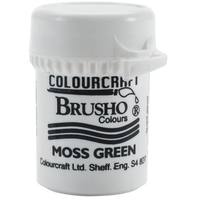 Brusho Crystal Colour 15G Moss Green - BRB12-MGN