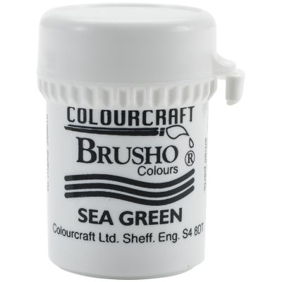 Brusho Crystal Colour 15G Sea Green - BRB12-SGN