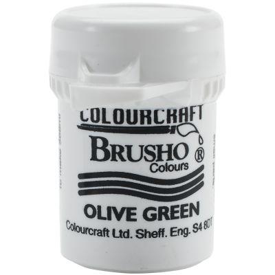 Brusho Crystal Colour 15G Olive Green - BRB12-OG