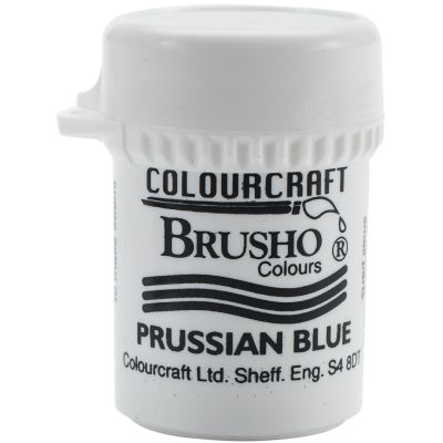 Brusho Crystal Colour 15G Prussian Blue - BRB12-PB