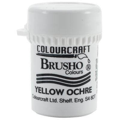 Brusho Crystal Colour 15G Yellow Ochre - BRB12-YO
