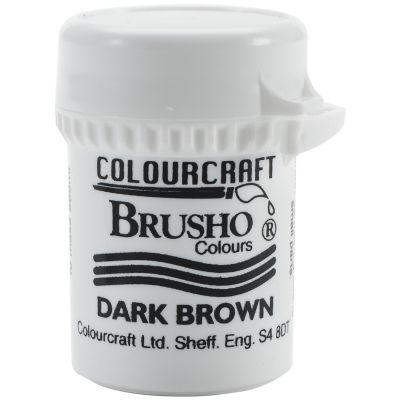 Brusho Crystal Colour 15G Dark Brown - BRB12-DBN
