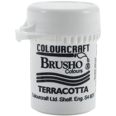 Brusho Crystal Colour 15G Terracotta - BRB12-TC