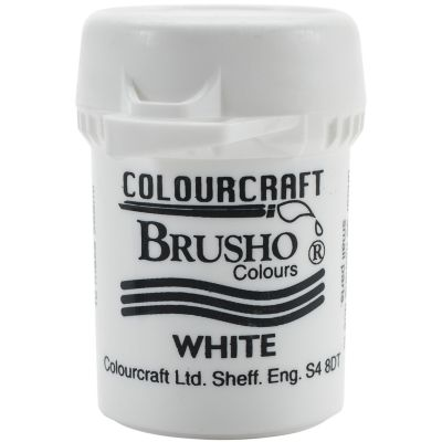 Brusho Crystal Colour 15G White - BRB12-W