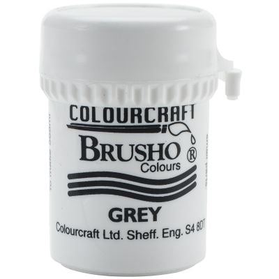 Brusho Crystal Colour 15G Grey - BRB12-GY