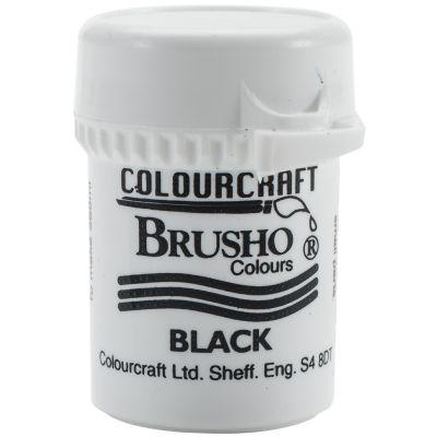 Brusho Crystal Colour 15G Black - BRB12-BK