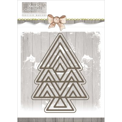 Find It Trading Precious Marieke Rustic Christmas Die Rustic Tree - PM10040