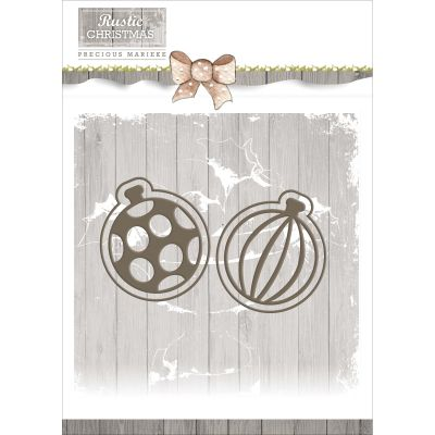 Find It Trading Precious Marieke Rustic Christmas Die Bauble Set - PM10043