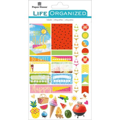 Paper House Life Organized Planner Stickers  Summer Fun - STPLX-11E