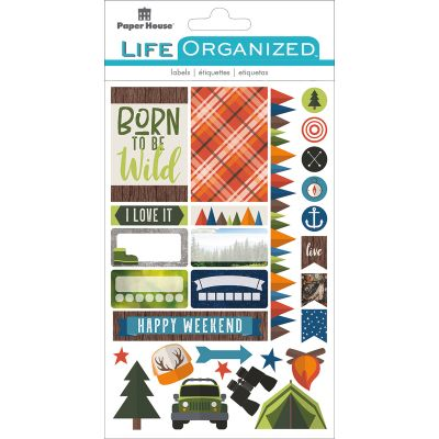 Paper House Life Organized Planner Stickers  Outdoor Fun - STPLX-12E
