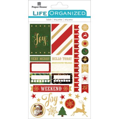 Paper House Life Organized Planner Stickers  Christmas Fun - STPLX-14E