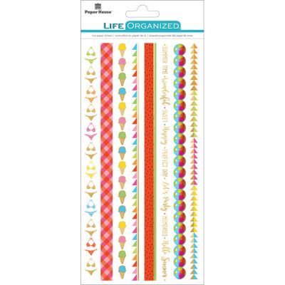 Paper House Life Organized Rice Paper Border Stickers  Summer Fun - STRB-1E