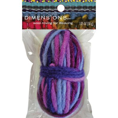 Dimensions Purple Variegated Pencil Roving For Weaving 1.05Oz (30G) - 72-74659