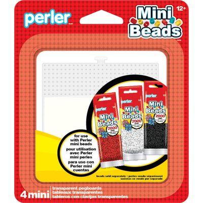 Perler Mini Bead Pegboards 4/Pkg  - 80-26055