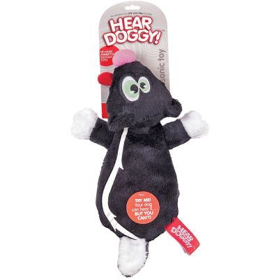 Hear Doggy Flattie Black Skunk - 58513