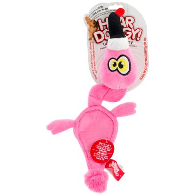 Hear Doggy Flattie Pink Flamingo - 58518