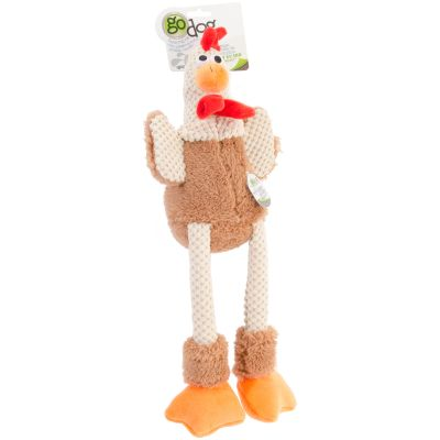 Godog Checkers With Chew Guard Large Skinny Rooster - 770880
