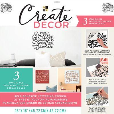 Dcwv Create Decor Self Adhesive Lettering & Stencil 18