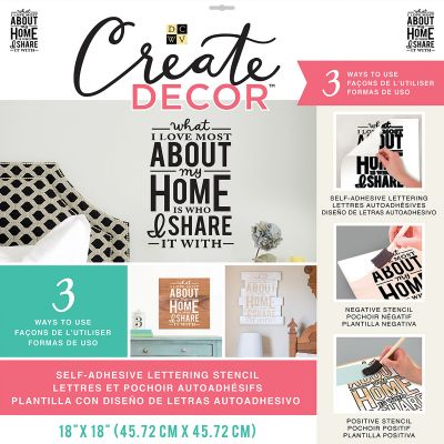 Dcwv Create Decor Self Adhesive Lettering & Stencil 18