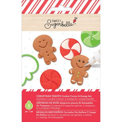 Sweet Sugarbelle Cookie Cutter & Stamp Set 5/Pkg-Christmas Treats