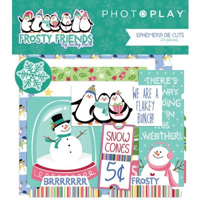 Frosty Friends Ephemera Cardstock Die-Cuts 26/Pkg-