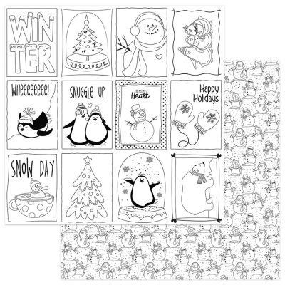 Frosty Friends Double-Sided Cardstock 12