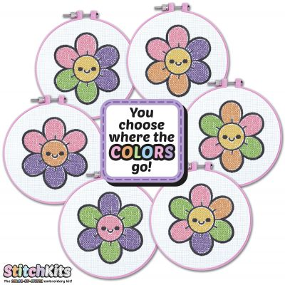 StitchKits(TM) Embroidery Kit-Flower