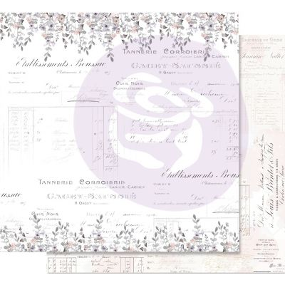 Lavender Frost Foiled Double-Sided Cardstock 12