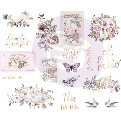 Lavender Frost Chipboard Stickers 5